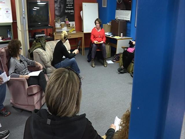 Naloxone training session in Madison.