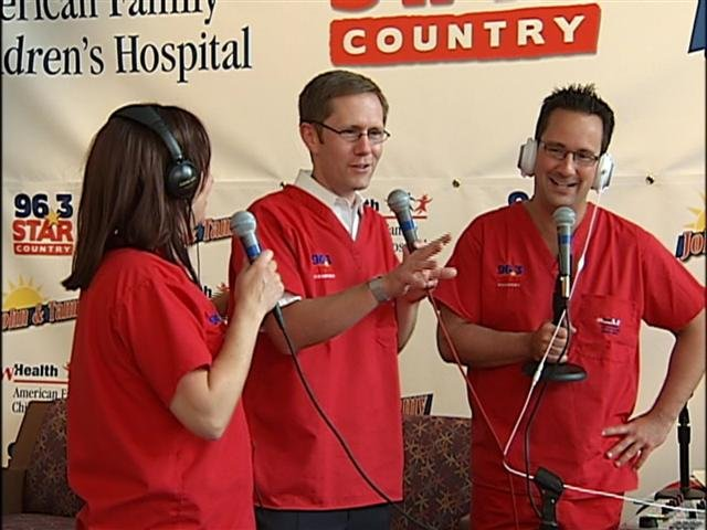 Our own Brian Olson joined John and Tammy Wednesday morning at the hospital