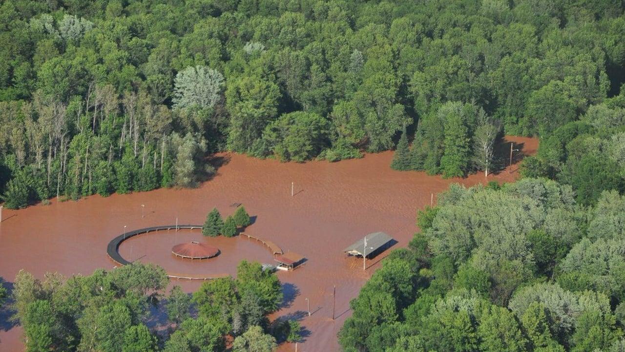Flood damage in Ashland County / Courtesy: @ReadyWisconsin/Civil Air Patrol