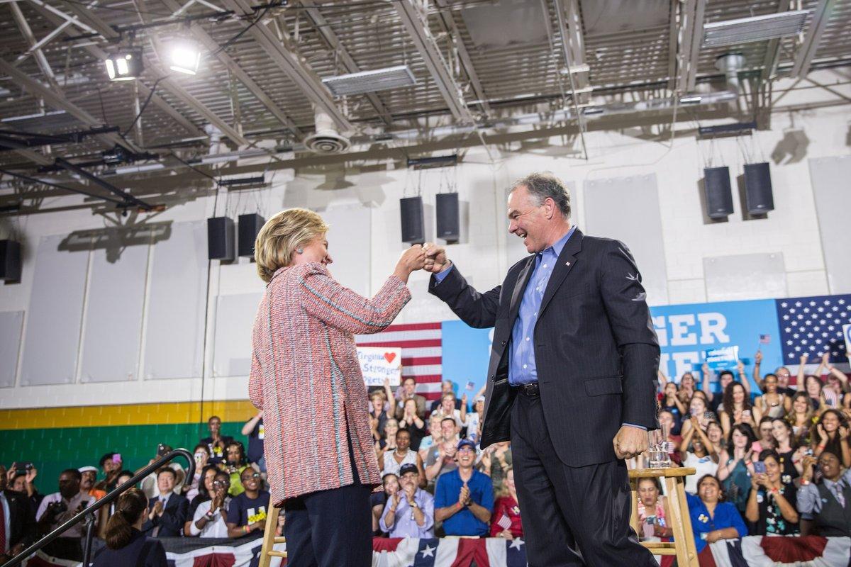 Clinton chooses Tim Kaine as running mate