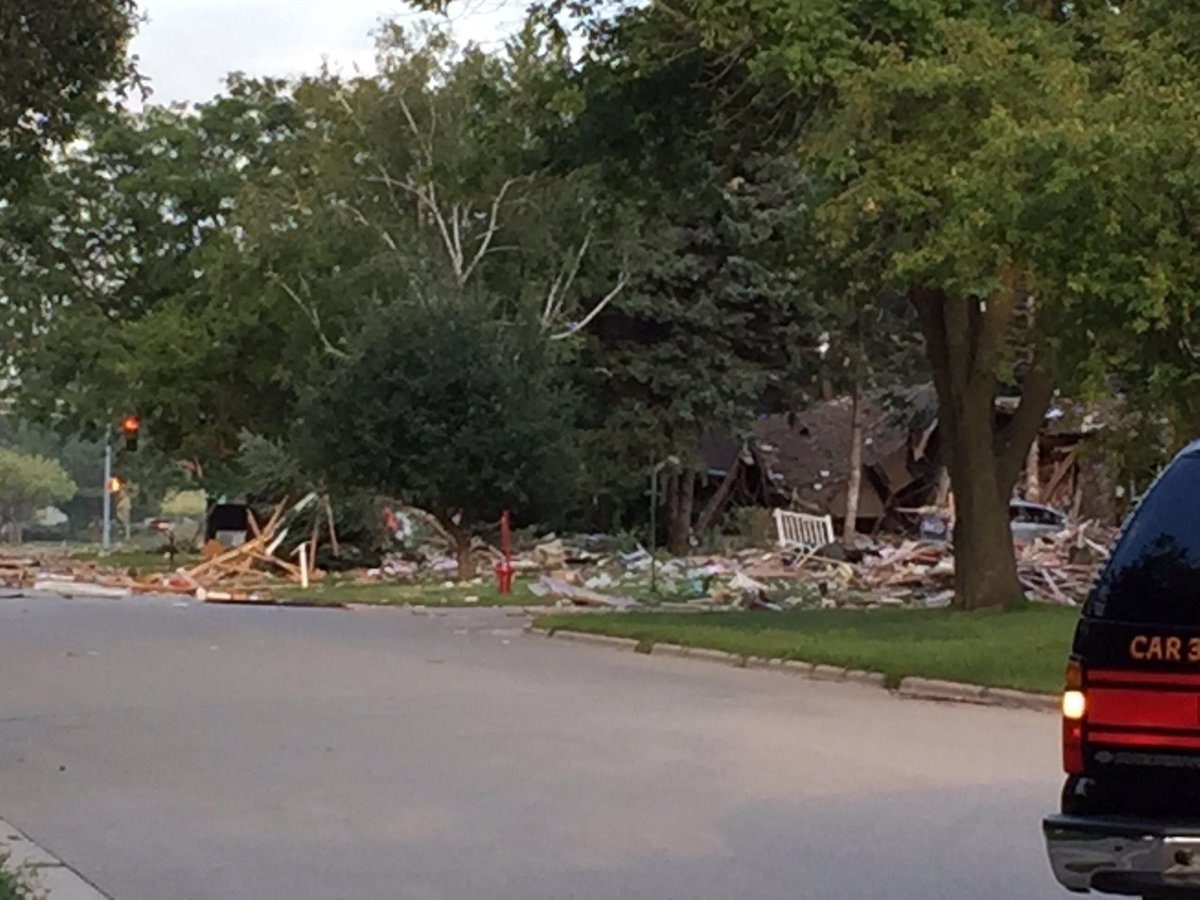 1 man injured in Fitchburg house explosion; roads partially open Friday