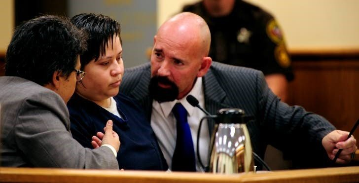 Lucia Hernandez-Alvarez appears in court   CREDIT: Kenosha News