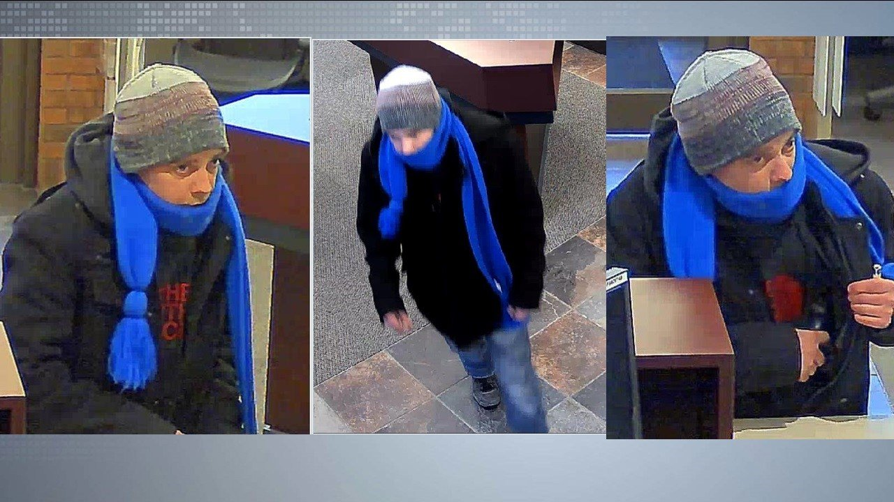Surveillance images of the suspect as released by the Middleton Police Dept.