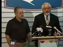 Girl's father, Alex Marti of Parkland, Fla., and his lawyer, Stuart Grossman