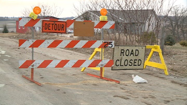 Roads near the crash scene were blocked for about 6 hours