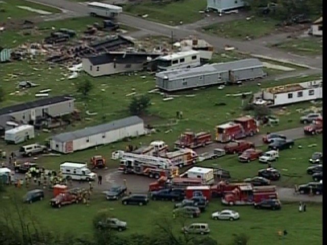 Tornado hits Barron County trailer park