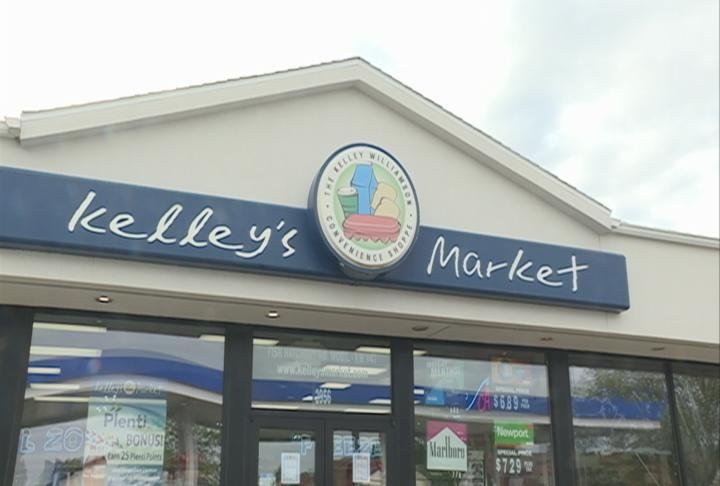 Outside Kelley's Market in Fitchburg