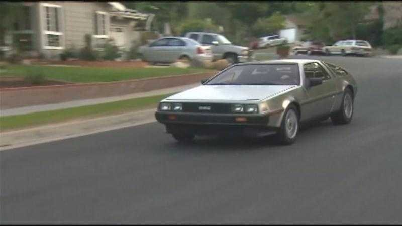 A man in a DeLorean just got the best possible speeding ticket