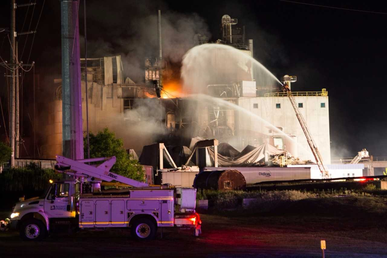 Explosion at ethanol plant in southern Wisconsin; multiple injuries