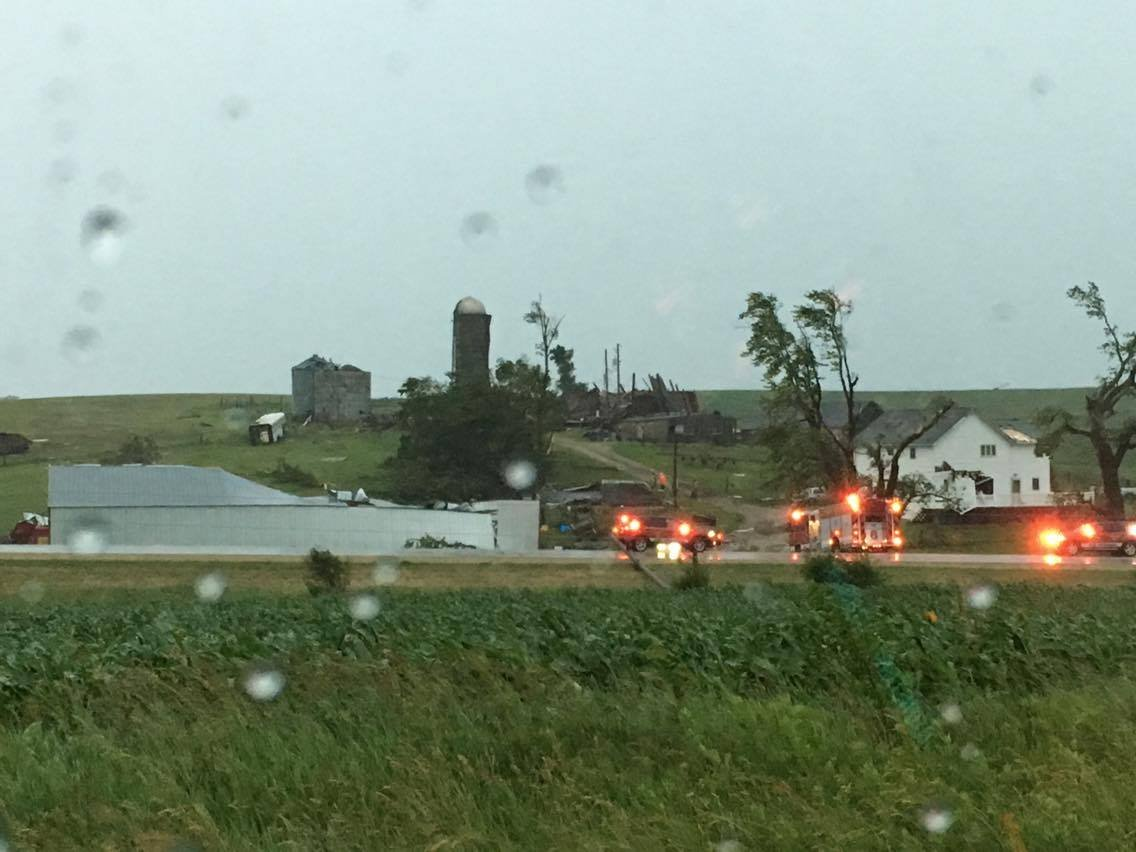 Courtesy: James Cassidy, taken on Highway 69 near Cold Springs Rd. in Monroe