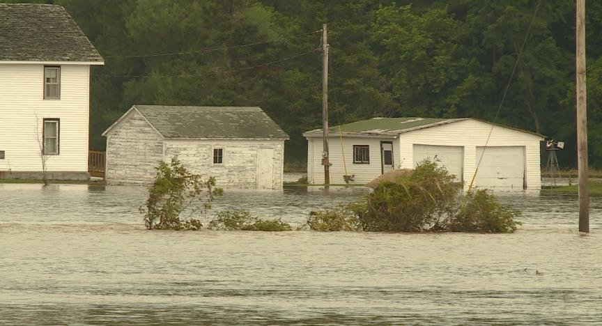 Flood water surround structures in Richland County