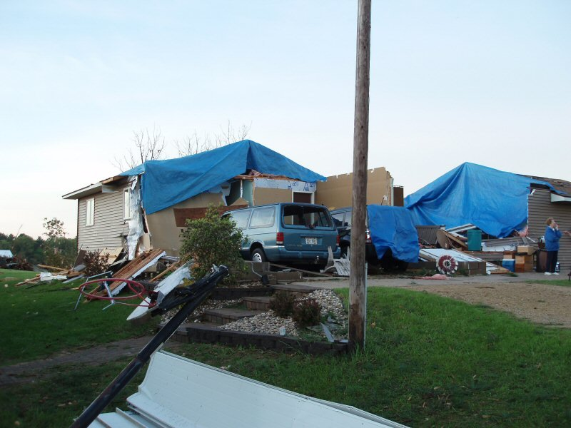 Damage in Sparta, Pictures courtesy of the National Weather Service