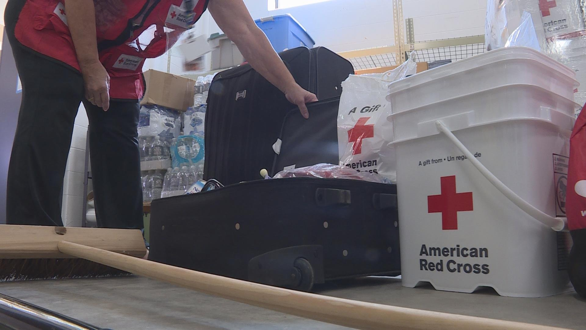 Local Red Cross volunteers train for hurricane relief