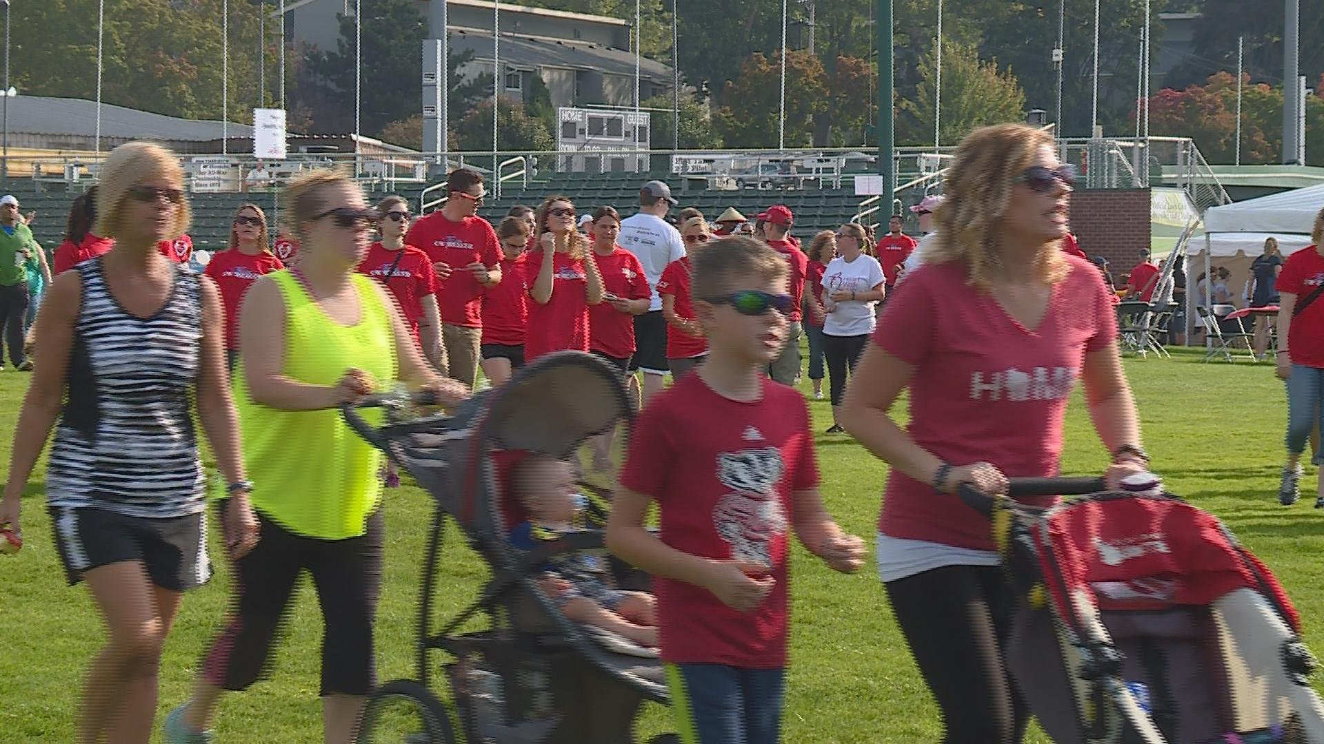 People participating in the Heart Walk