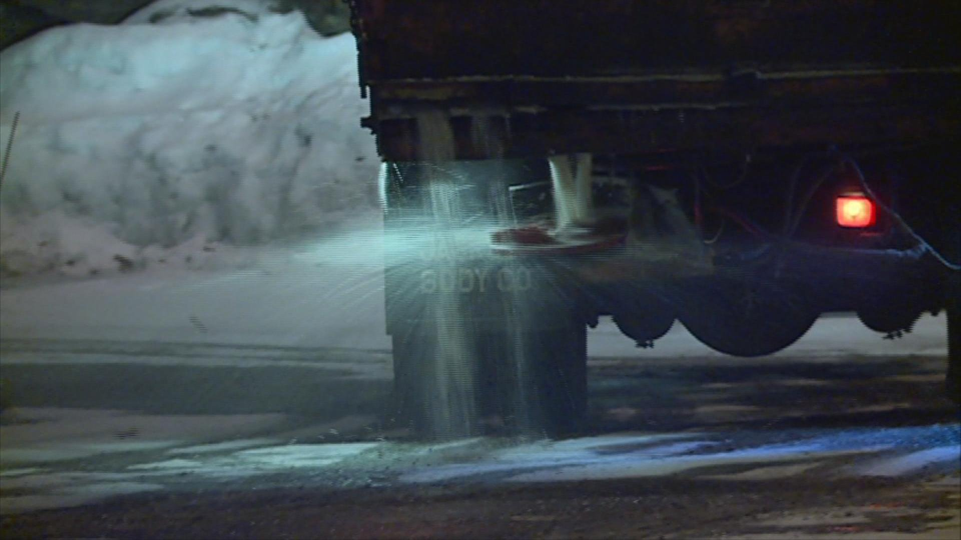 There's a new push to use less salt to melt ice and snow this winter.