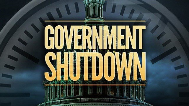 What happens in a United States government shutdown?
