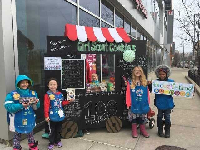 Girl Scout sells 300 boxes in front of pot dispensary