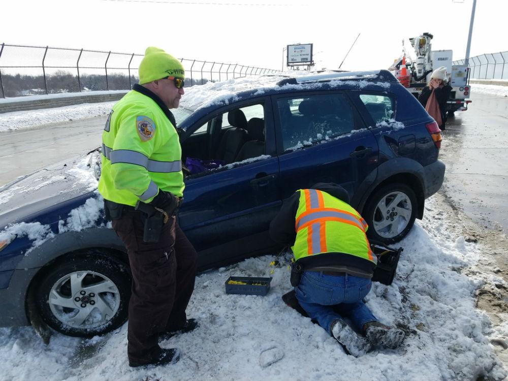 Feb. 8, 2018 crash. Tony Galli/WKOW photo