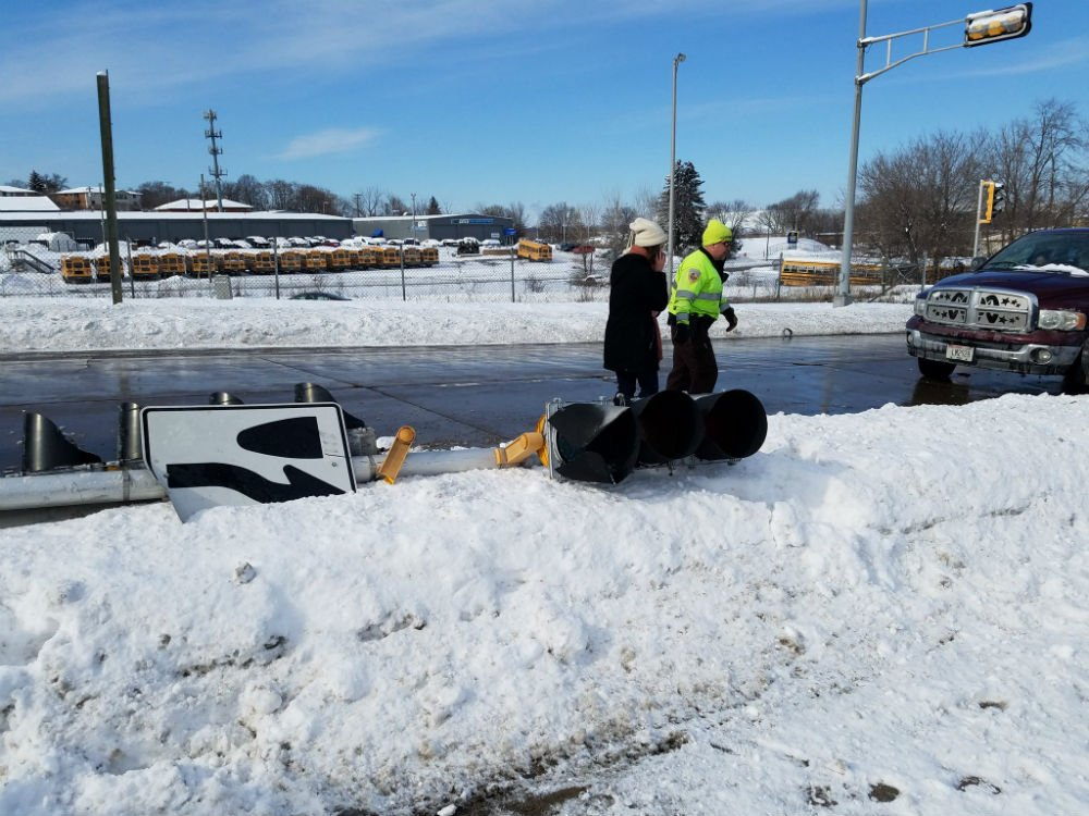 Feb. 8, 2018 crash. Tony Galli/WKOW photo
