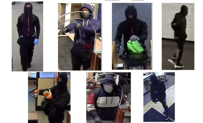 Surveillance images from a string of bank robberies that police believe are connected