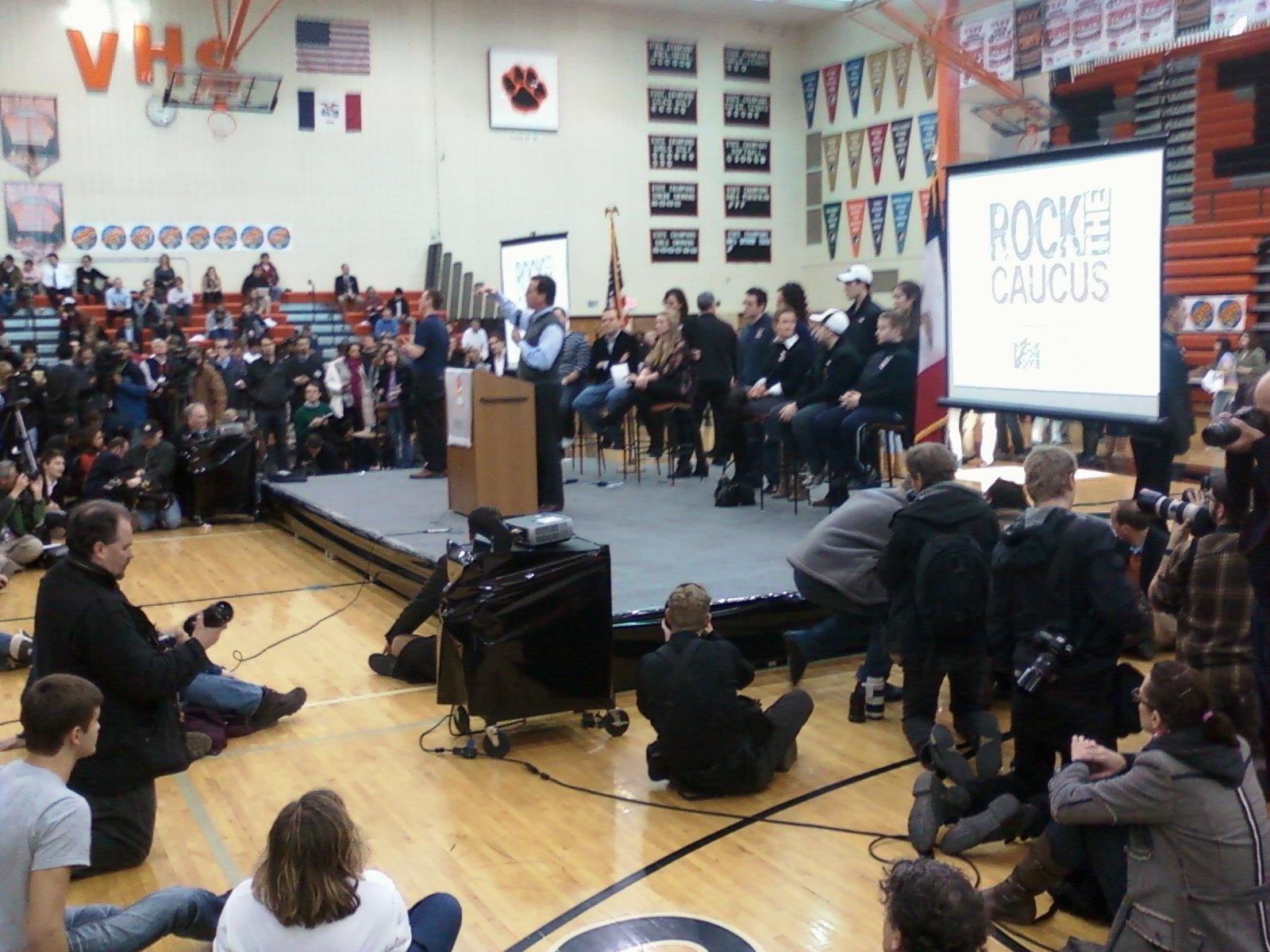 Rick Santorum at the Rock the Caucus event