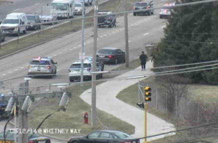 DOT cameras show police at the scene of a chase involving an attempted homicide suspect