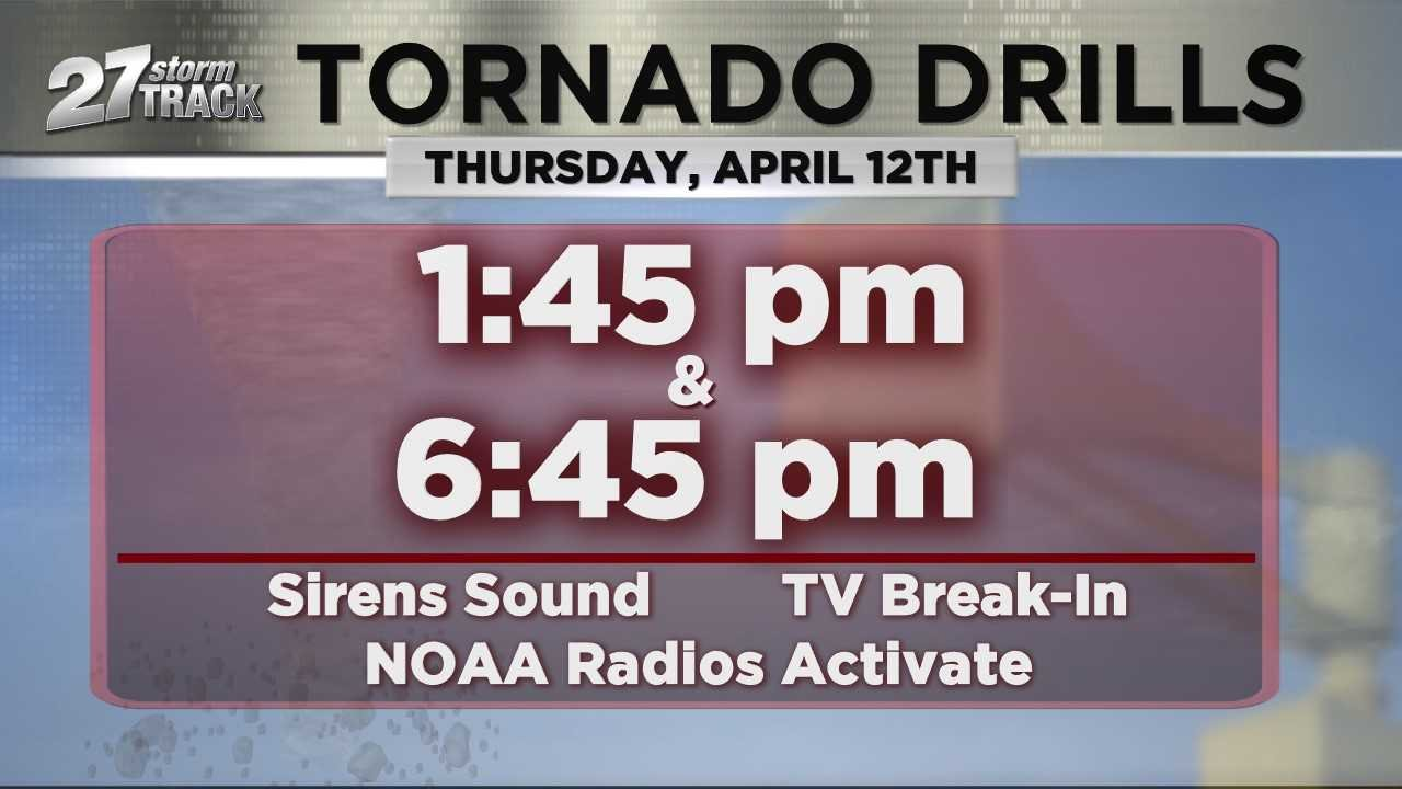 Statewide Tornado Drill to take place at 1 pm