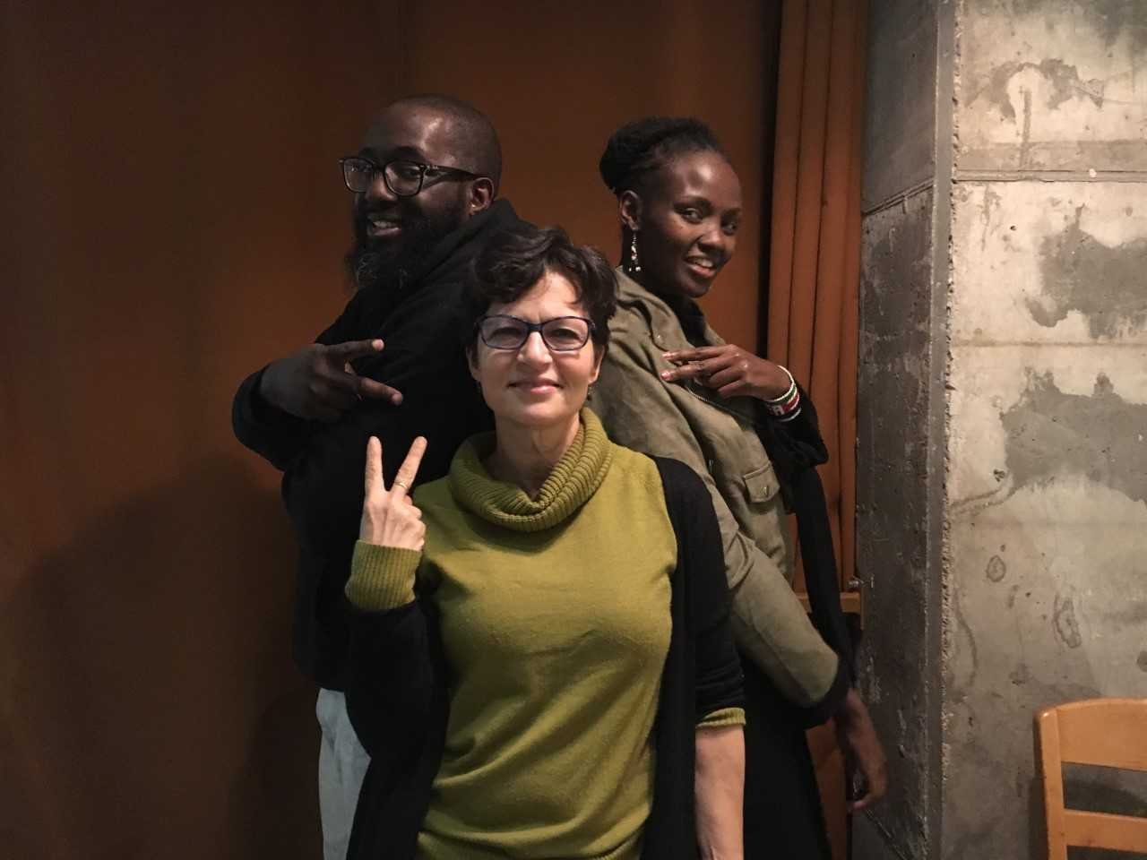 Michael Ford, Hip Hop Architecture; Lesley Sager, Merry Go Strong; Dr. Josephine Kulea, Samburu Girls Foundation