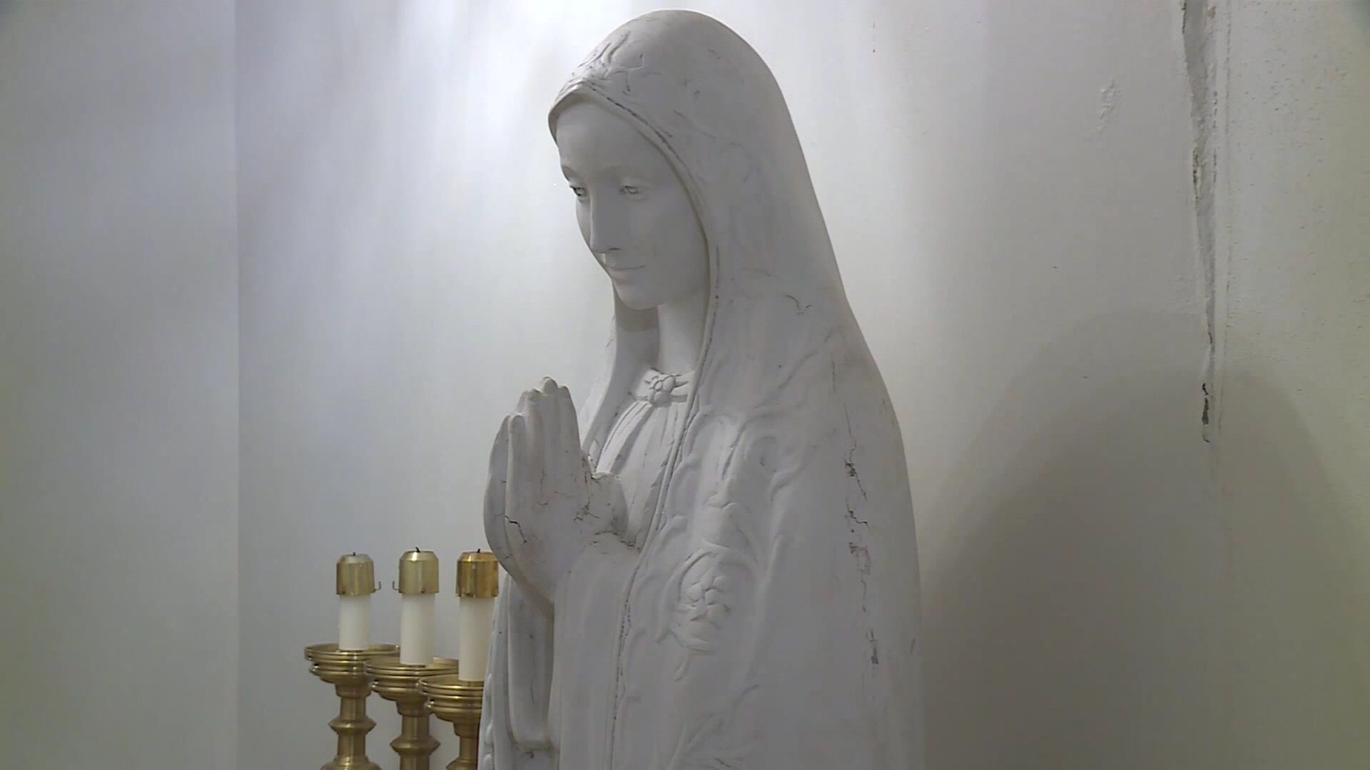 This 5 ft. statue of the Virgin Mary was stolen from St. Mary's Catholic Church last weekend.