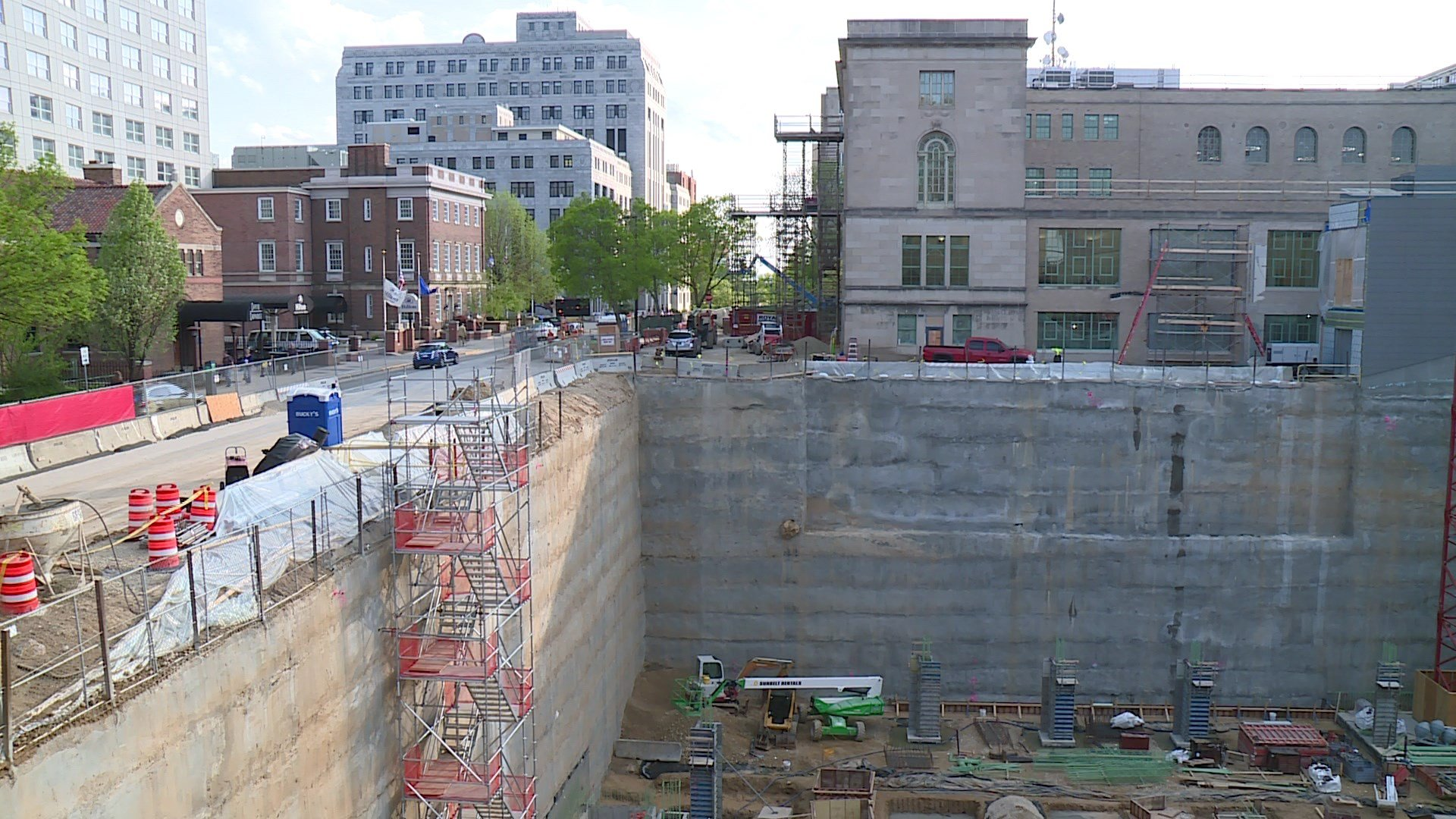 Construction is already underway on the parking garage for Judge Doyle Square