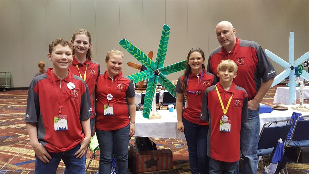 """""""The Fighting Winds"""" team from Darlington Middle School"""