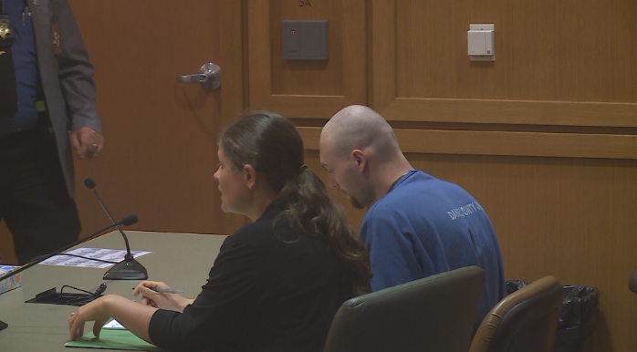 Defendant Gavin Veium appears in court for his preliminary hearing