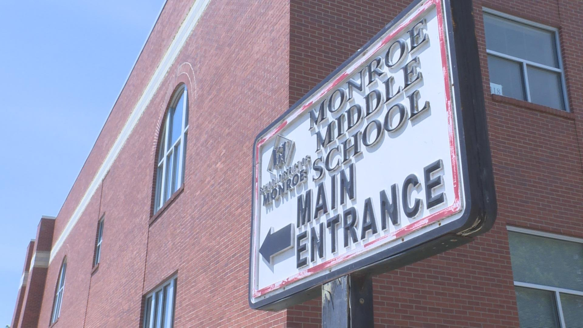 Monroe District Administrator Rick Waske plans to use a portion of the more than $102,000 awarded to his district to have shatter-resistant film installed on entry doors.