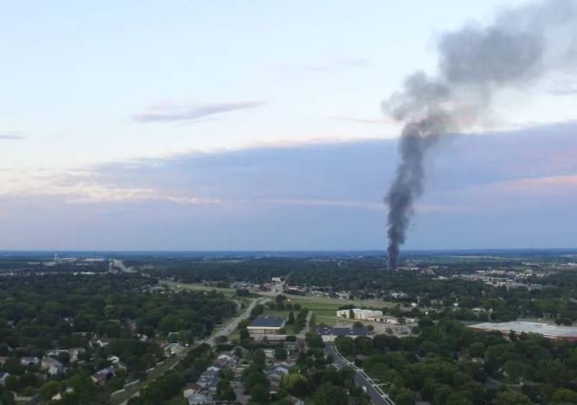 Image of smoke from Sun Prairie explosion. Photo courtesy: Isaac Schluesche