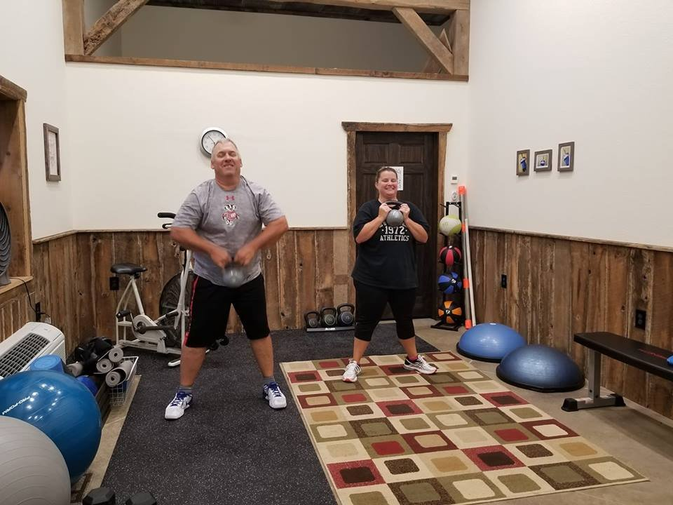 Moxiegritfit clients workout in new temporary studio in Sun Prairie.