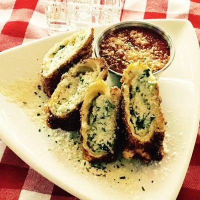 Albanese's deep-fried spinach lasagna bites
