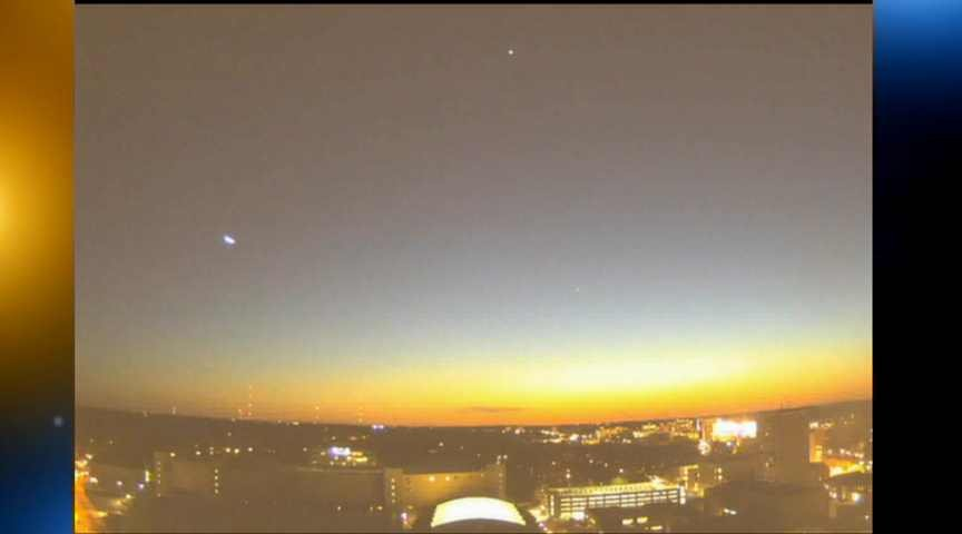 Courtesy: UW-Madison SSEC/AOS (meteor is the dot on the left side of the picture)