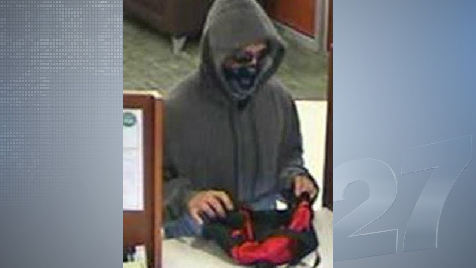 Bank robbery suspect from Aug. 9 atAssociated Bank on E. Broadway in Madison.