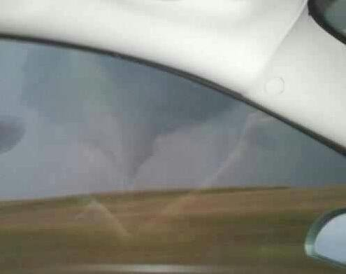 Funnel cloud near Bloomington