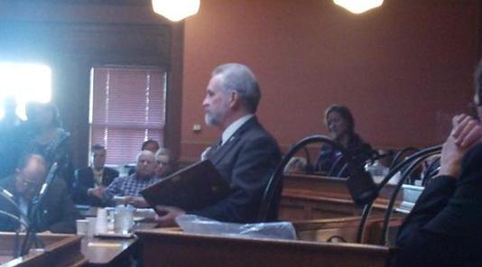 Rep. Rivard speaks to caucus