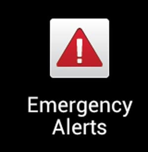 On an Android phone, this is the icon where you can review current Emergency Alerts