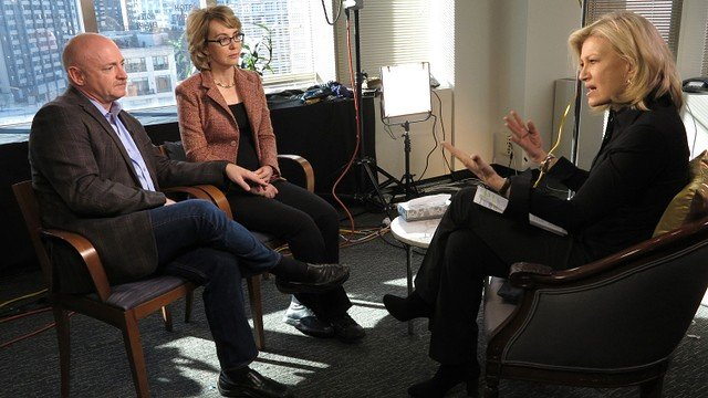 Diane Sawyer interviews Gabby Giffords and Mark Kelly, Jan. 6, 2013. Courtesy: ABC News