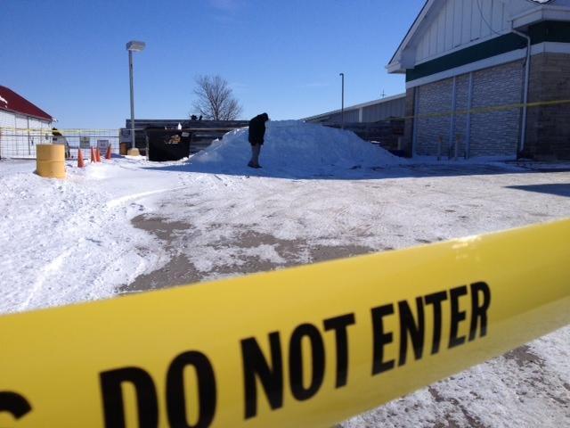 Investigation at Iowa gas station where baby found