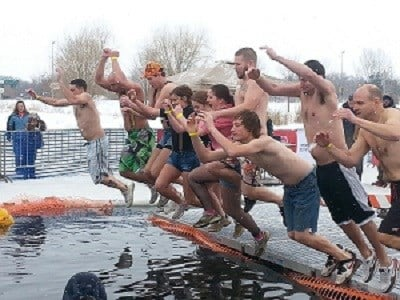 Special Olympics hosts the Polar Plunge at Lambeau Field