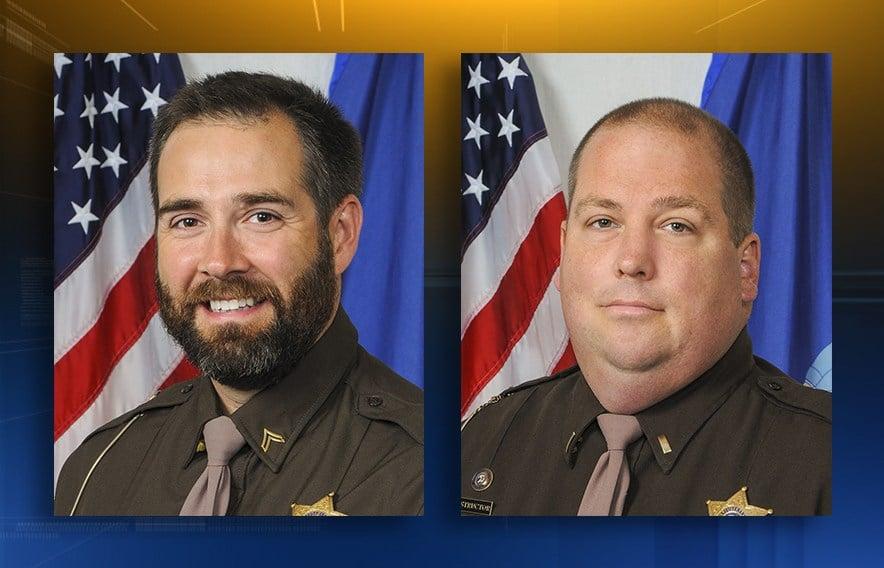 Dep. Roger Finch (L) & Lt. Brian Hayes (R)