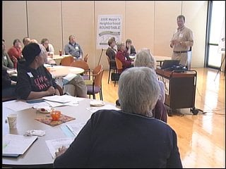 Mayor Dave Cieslewicz held his annual Mayor's Roundtable on Saturday at the Warner Park recreation center.