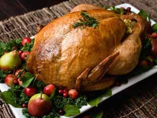 In 2006, the average American ate 13.3 lbs of turkey... with a hearty helping devoured at Thanksgiving time. (©istockphoto/Jill Chen)
