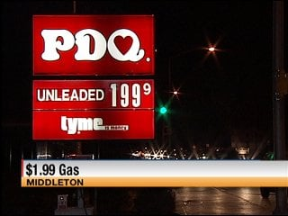 This PDQ station on Parmenter Street in Middleton dropped its price for a gallon of regular unleaded to $1.999 on Friday.