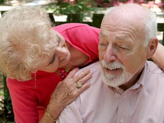 Forty-four percent of the caregivers were spouses, and 70 percent lived with their Alzheimer's-afflicted loved one. © istockphoto.com/Lisa F. Young