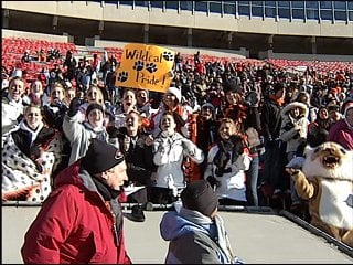 Verona Wildcat fans cheered on their team at Camp Randall Stadium Friday during the State D-2 title game.